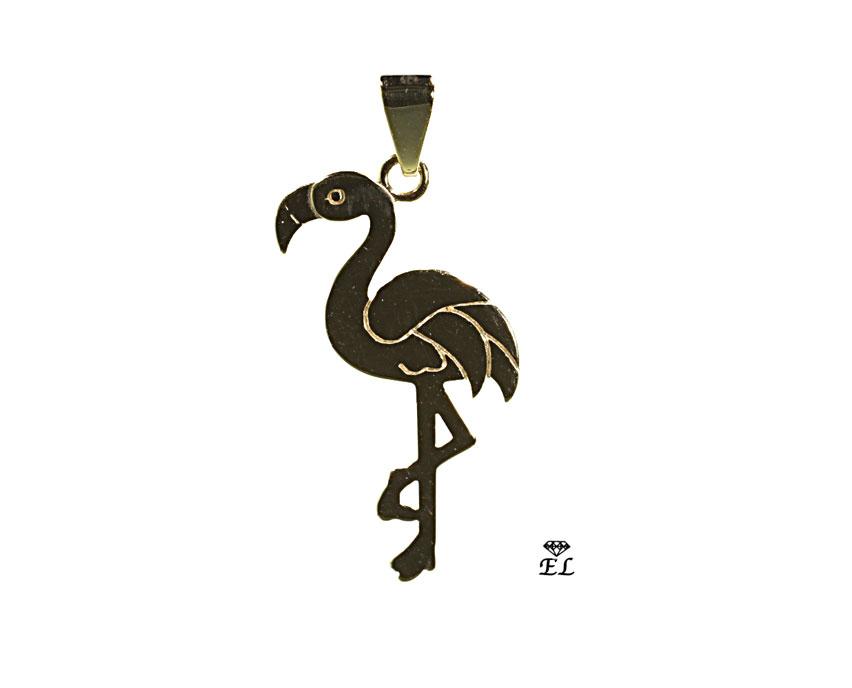 Anhaenger-333-Gelbgold-Flamingo